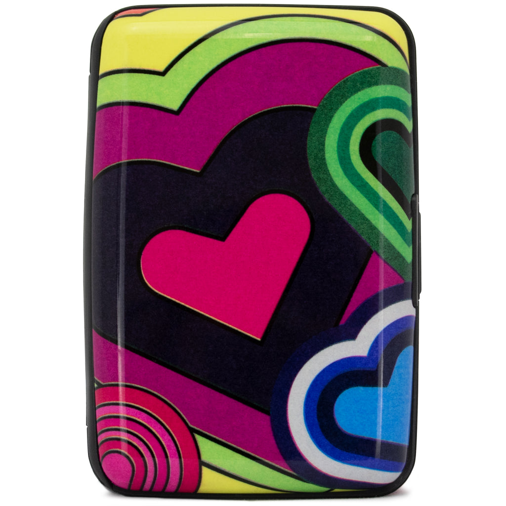 Collection RFID Wallet & Credit Card Case - Metro Hearts - Travellty