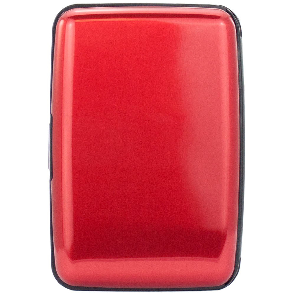 Metallic RFID Wallet & Credit Card Case - Red - Travellty