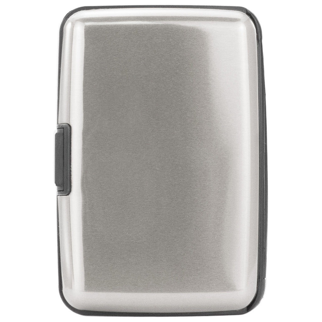 Metallic RFID Wallet & Credit Card Case - Silver - Travellty