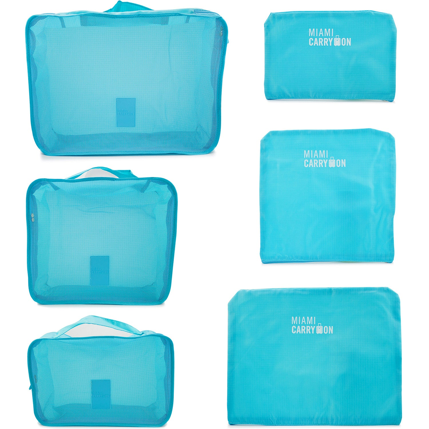 Foldable Packing Cubes 6 Piece Set - [variant_title] - Travellty