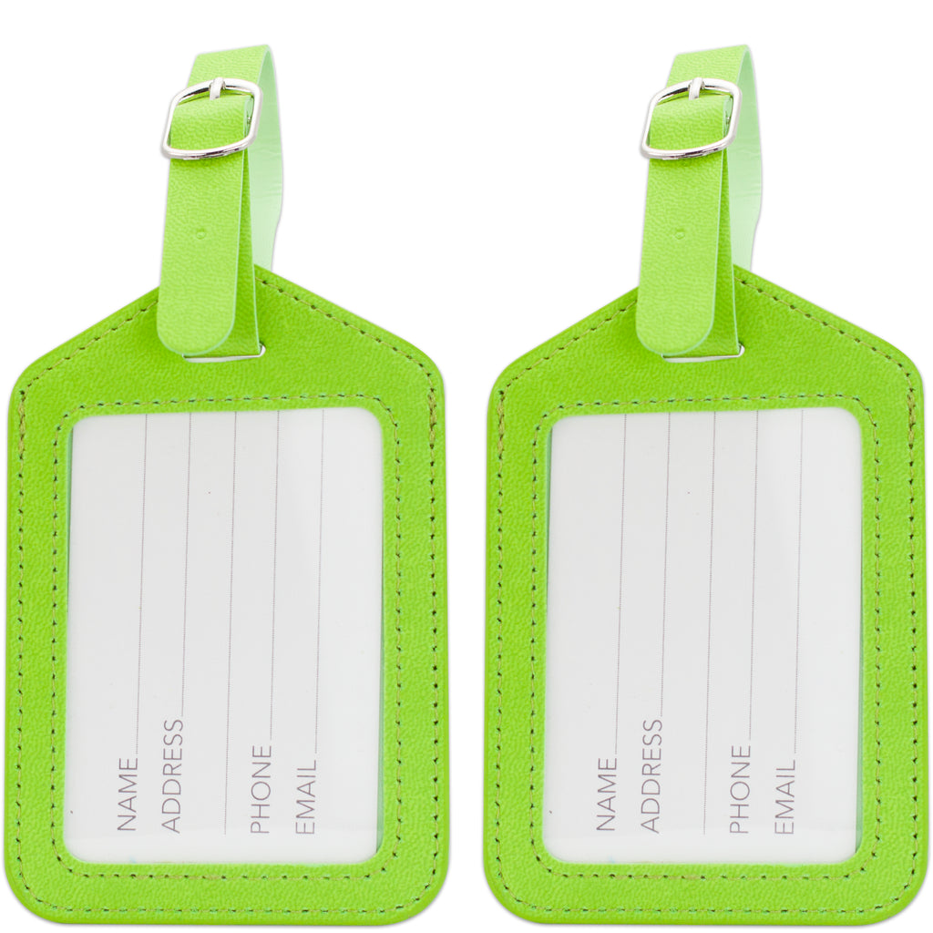 Elegance Luggage Tags Set of 2 - Green - Travellty