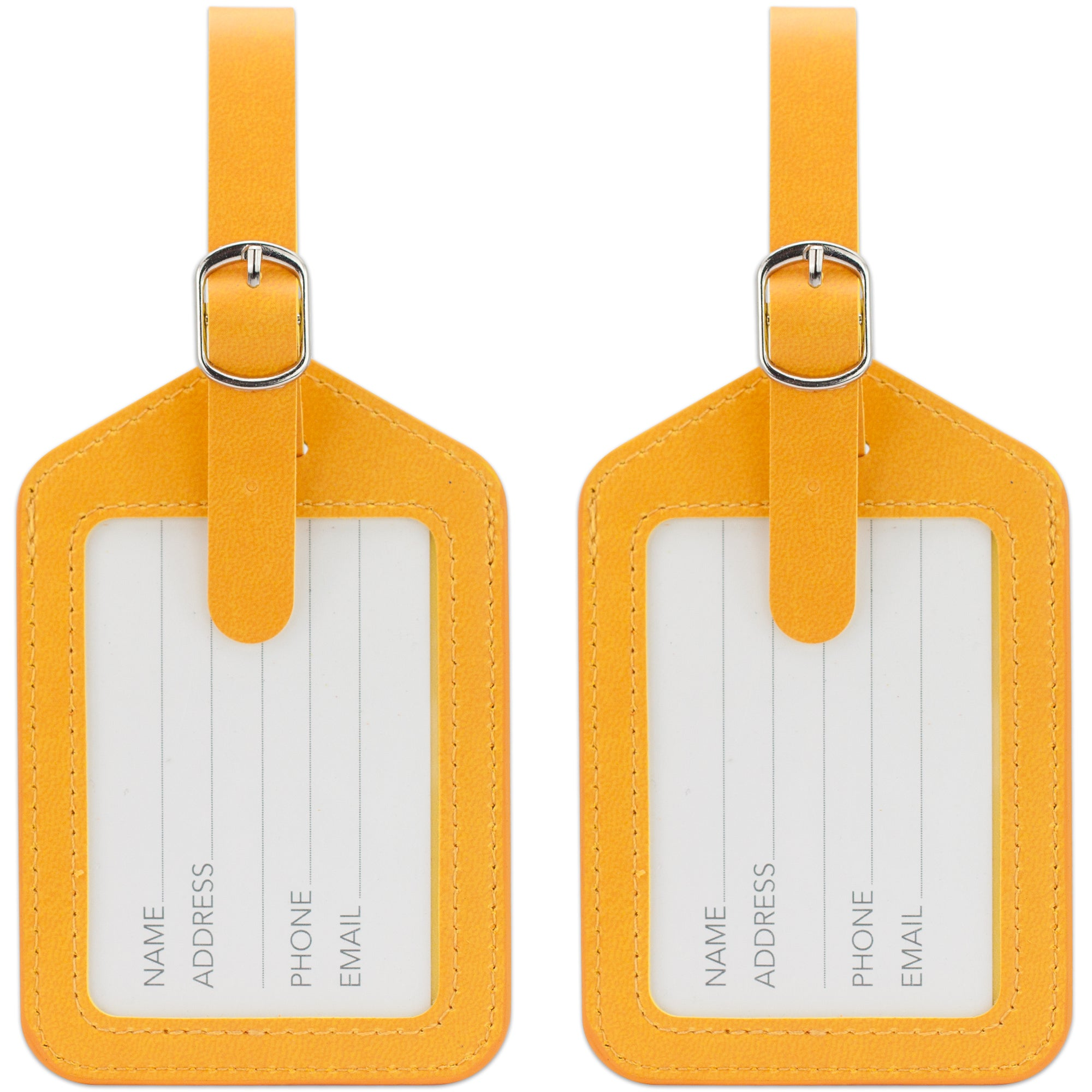 Elegance Luggage Tags Set of 2 - Orange - Travellty