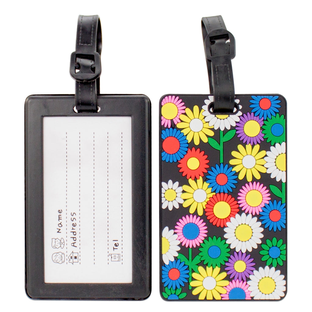 Colorful Collection Luggage Tags Set of 2 - Flower Field - Travellty