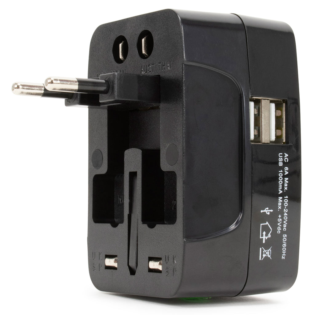 International Travel Adapter with USB Port - [variant_title] - Travellty