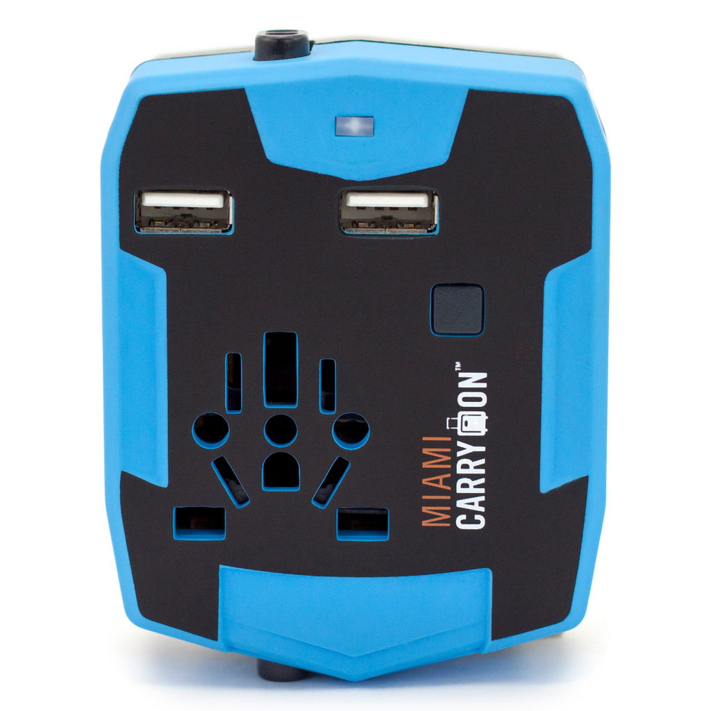 Travel Adapter with 2800mAh Power Bank and USB Ports - Blue / One Pack - Travellty