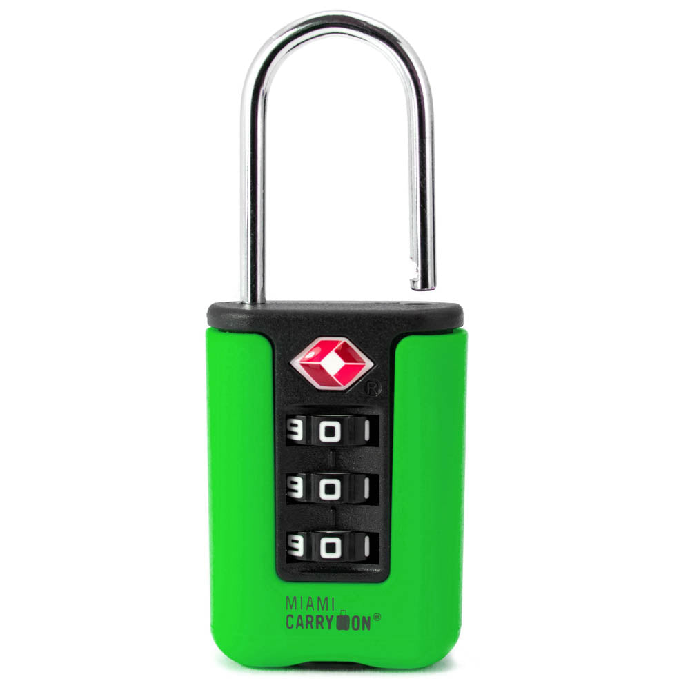 Two-Tone TSA Approved Combination Padlock - Green / Single - Travellty