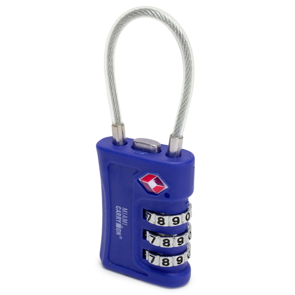 TSA Approved Cable Combination Padlock [VALUE SET] - [variant_title] - Travellty