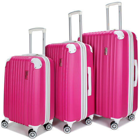 Collins 3 Piece Expandable Retro Spinner Luggage Set