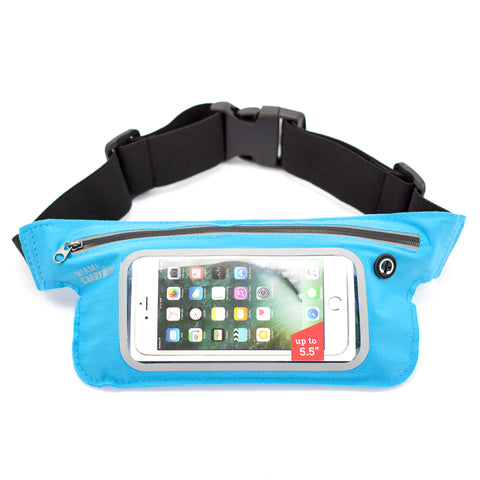 Water-Resistant Workout Belt for Smartphones - Turquoise - Travellty