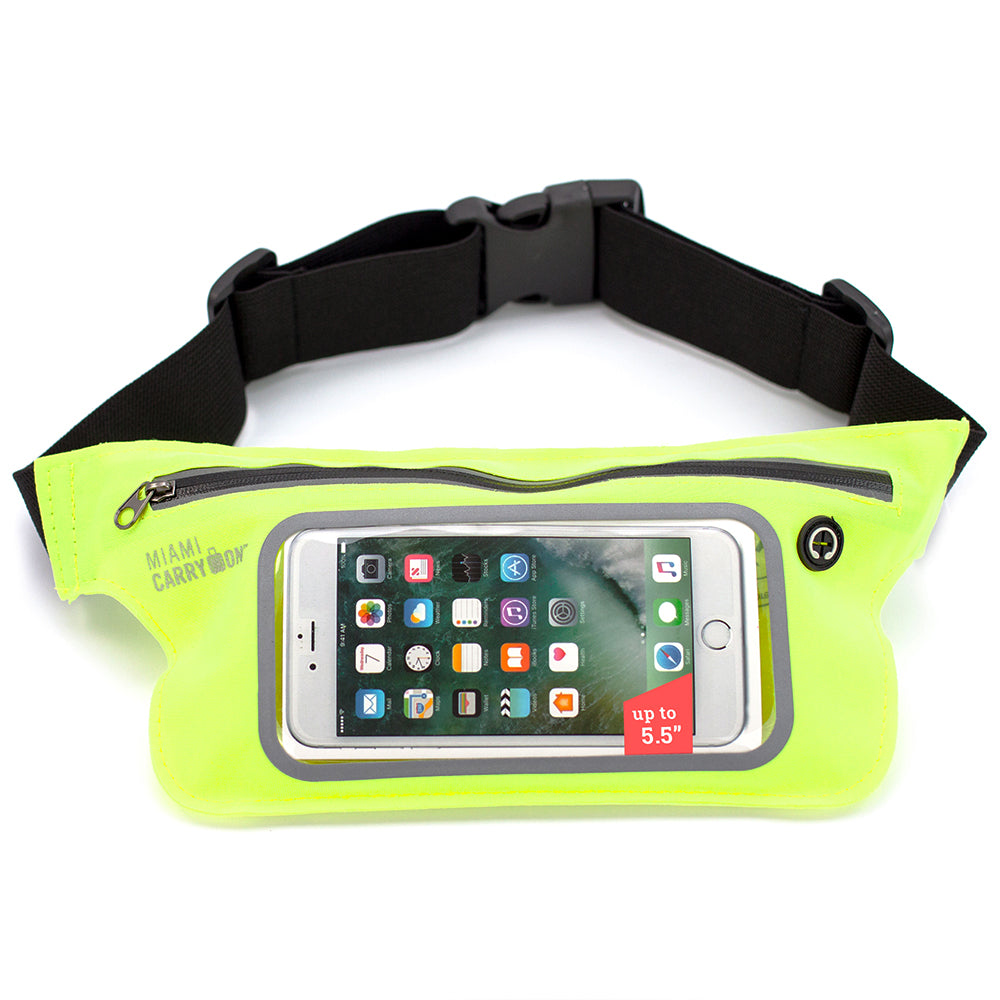 Water-Resistant Workout Belt for Smartphones - Neon Yellow - Travellty