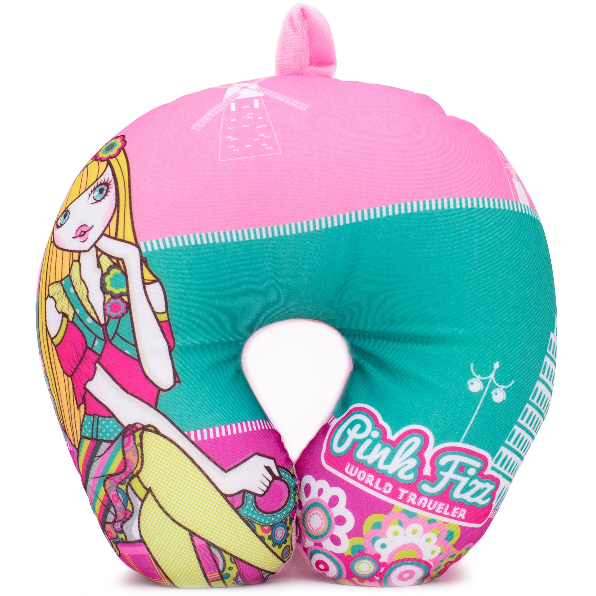 Microbeads Neck Pillow for Girls - Lulu - Travellty