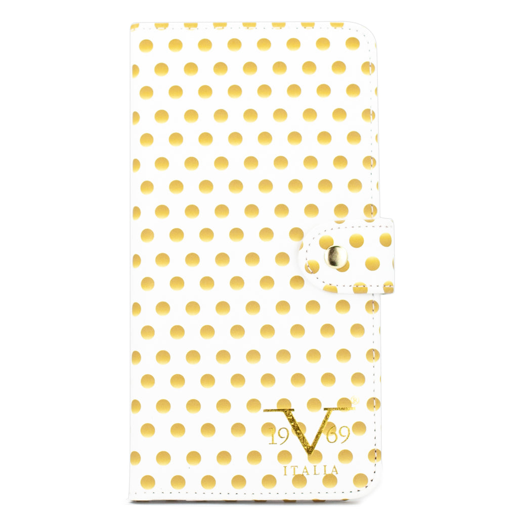 RFID Blocking Passport Cover and Wallet - Golden Polka - Travellty