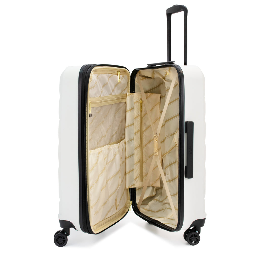 Arrow 3 Piece Expandable Hard Luggage Set (White)