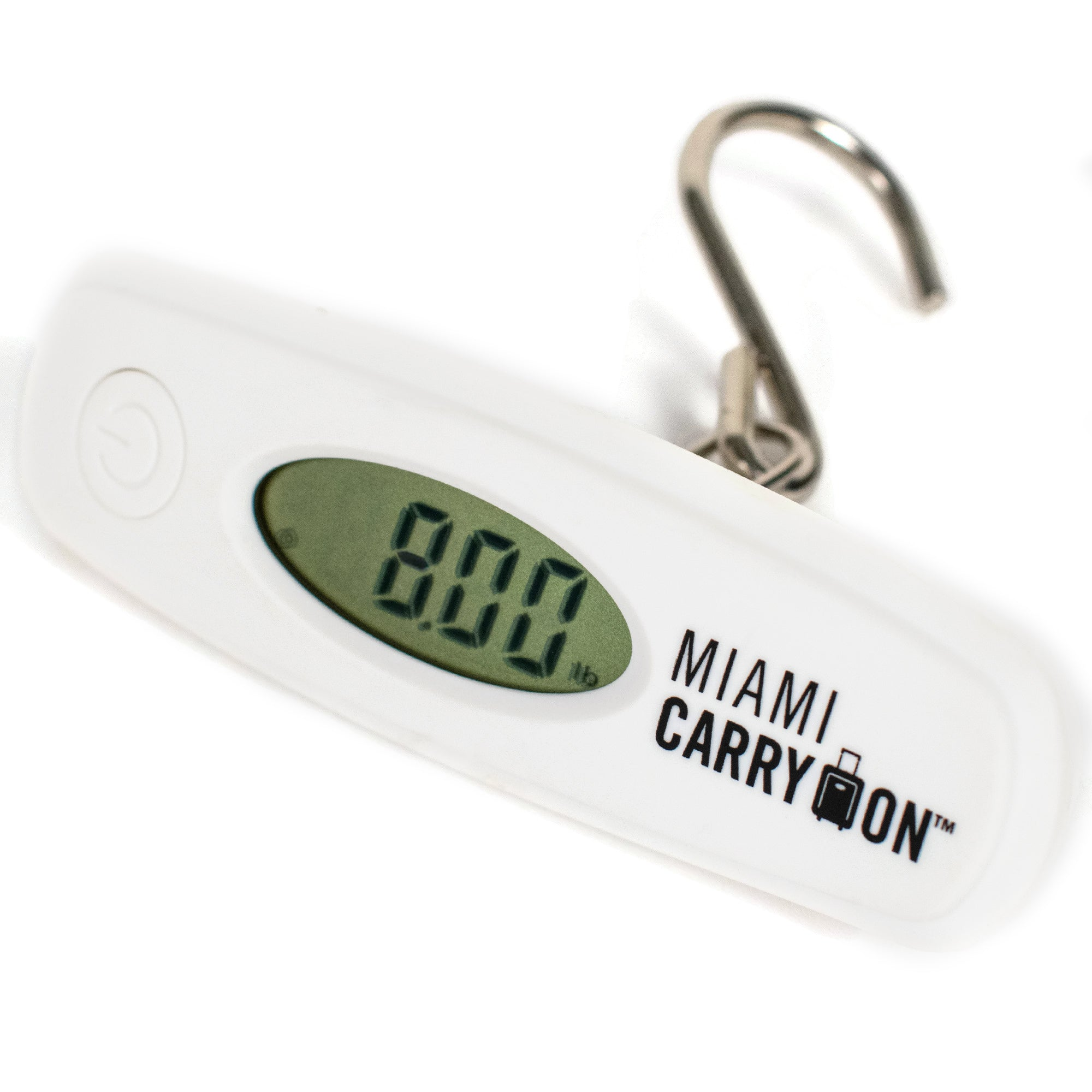 Digital Luggage Scale with Stainless Steel Hook - White - Travellty