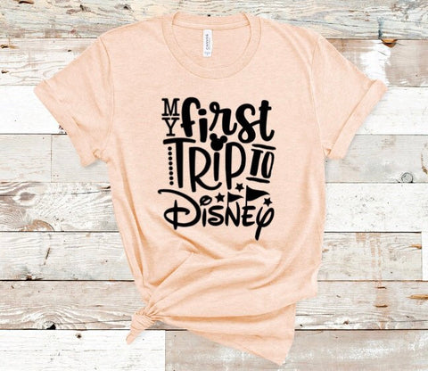 First Trip to Disney Shirt in Curvy Size
