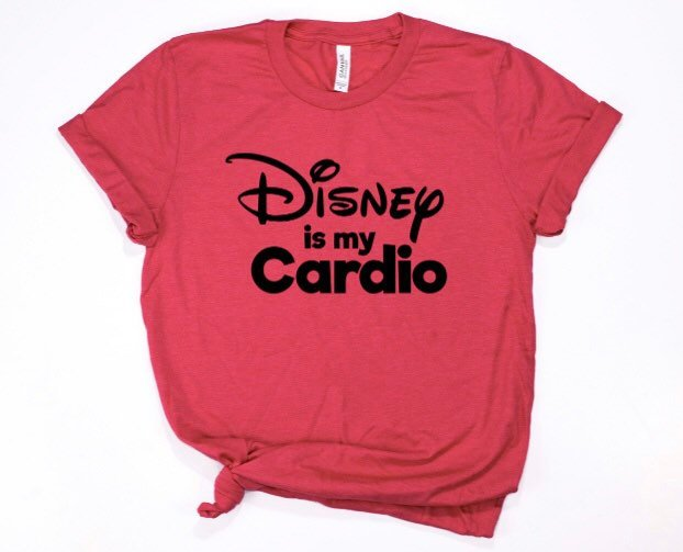 Disney is My Cardio Shirt for Women & Men in Curvy Size