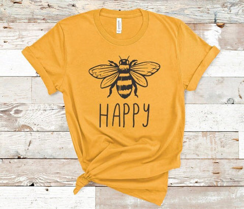 Bee Happy Shirt for Women in Curvy Size