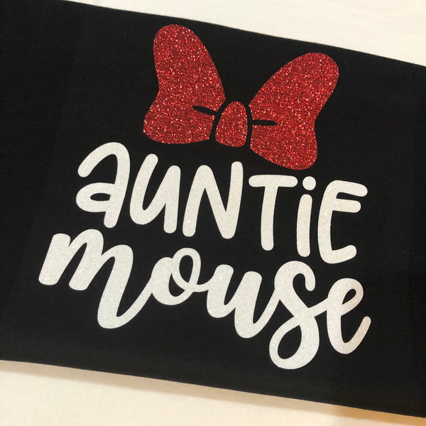 """Auntie Mouse"" Disney Family Shirt for Women"