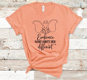 Embrace What Makes You Different Dumbo Shirt in Curvy Size