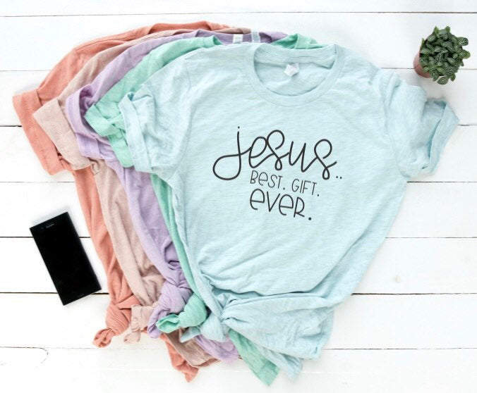 Jesus is the Best Gift Ever Shirt in Curvy Size
