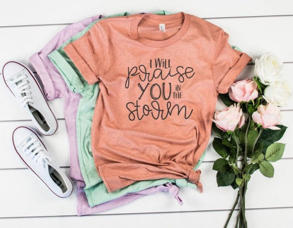 I Will Praise You In the Storm Shirt
