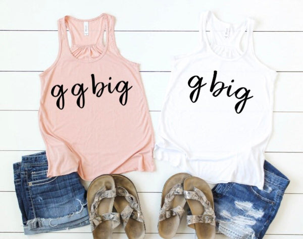 Sorority Big Little Tank Tops
