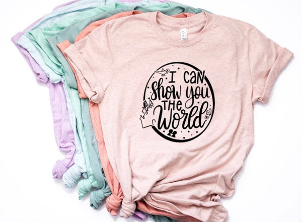 I Can Show you the World Shirt in Curvy Size