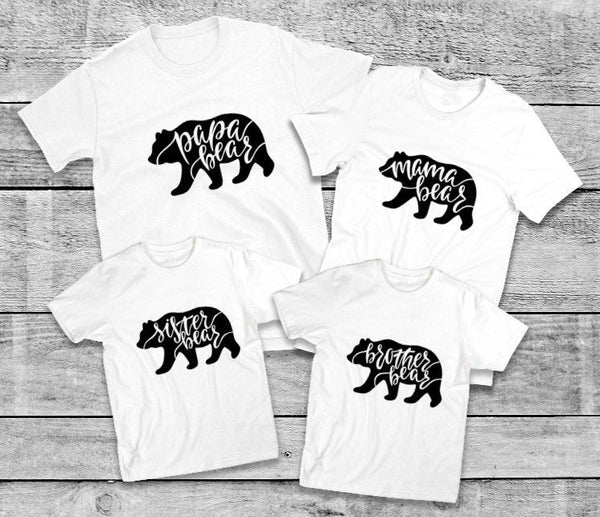 Sister Bear shirt for kids- Family Bear Shirts, Childrens tshirt, Kid shirts, Bear shirts