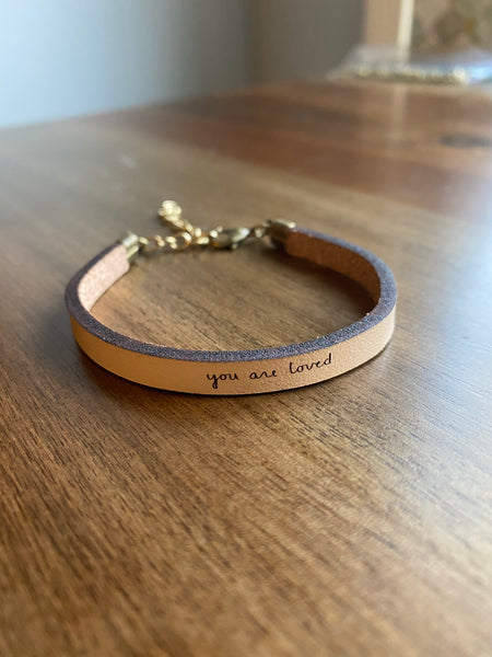 You Are Loved Leather Bracelet