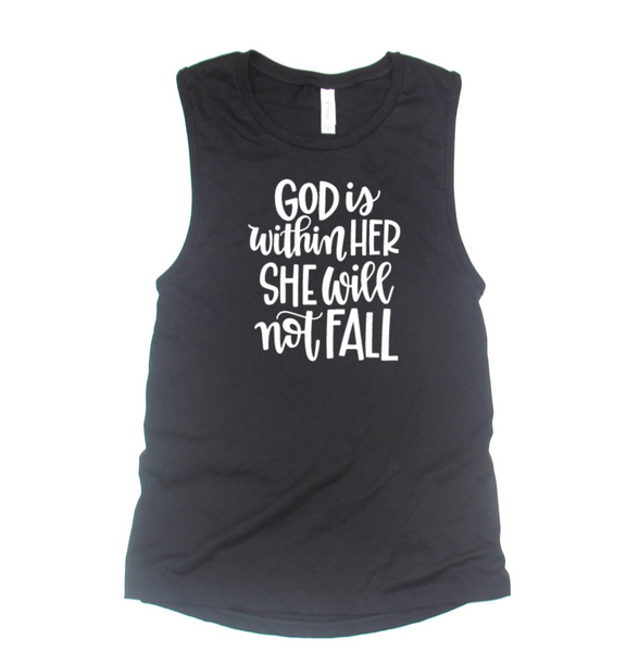God is Within Her She Will Not Fall Tank