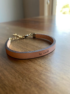 Be Still Leather Bracelet
