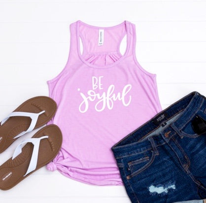 Be Joyful Racerback Tank
