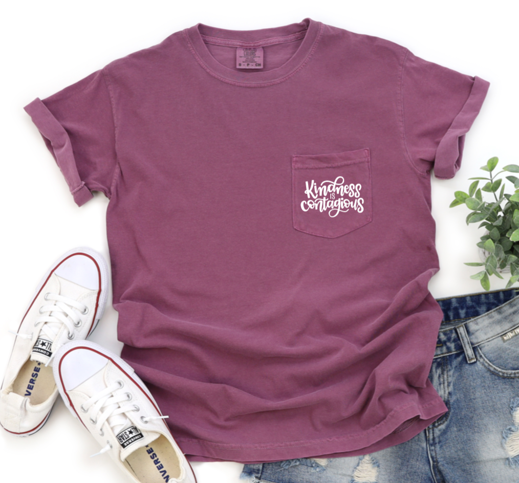 Kindness Is Contagious Shirt in Comfort Colors