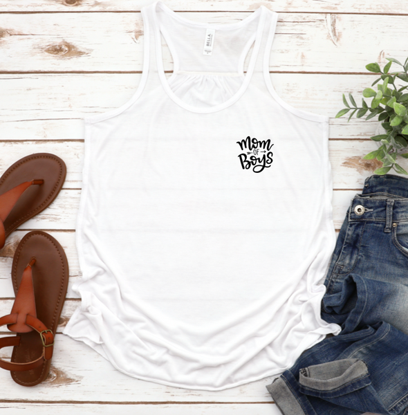 Mom of Boys Racerback Tank Top