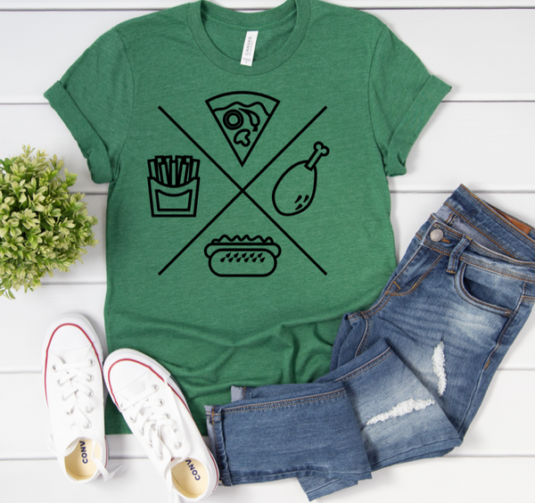 Food Group T-Shirt in Curvy Size