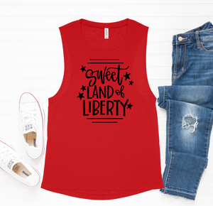Sweet Land Of Liberty Muscle Tank