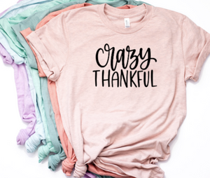 Crazy Thankful Shirt in Curvy Size