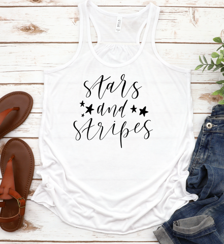 Stars and Stripes Racerback Tank Top