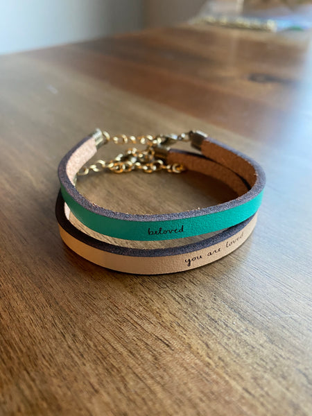 Beloved Leather Bracelet
