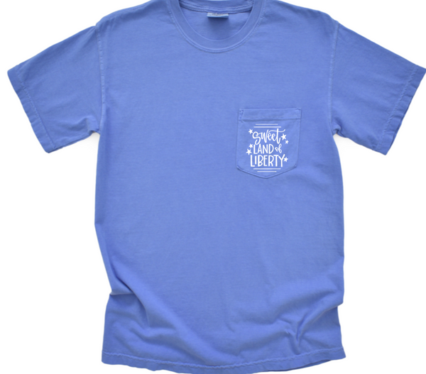 Sweet Land of Liberty Shirt in Comfort Colors