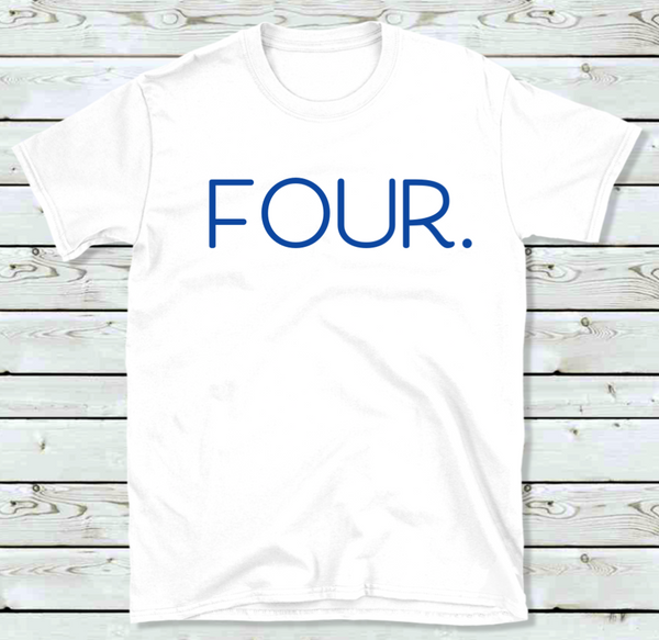 Four Birthday shirt for Kids