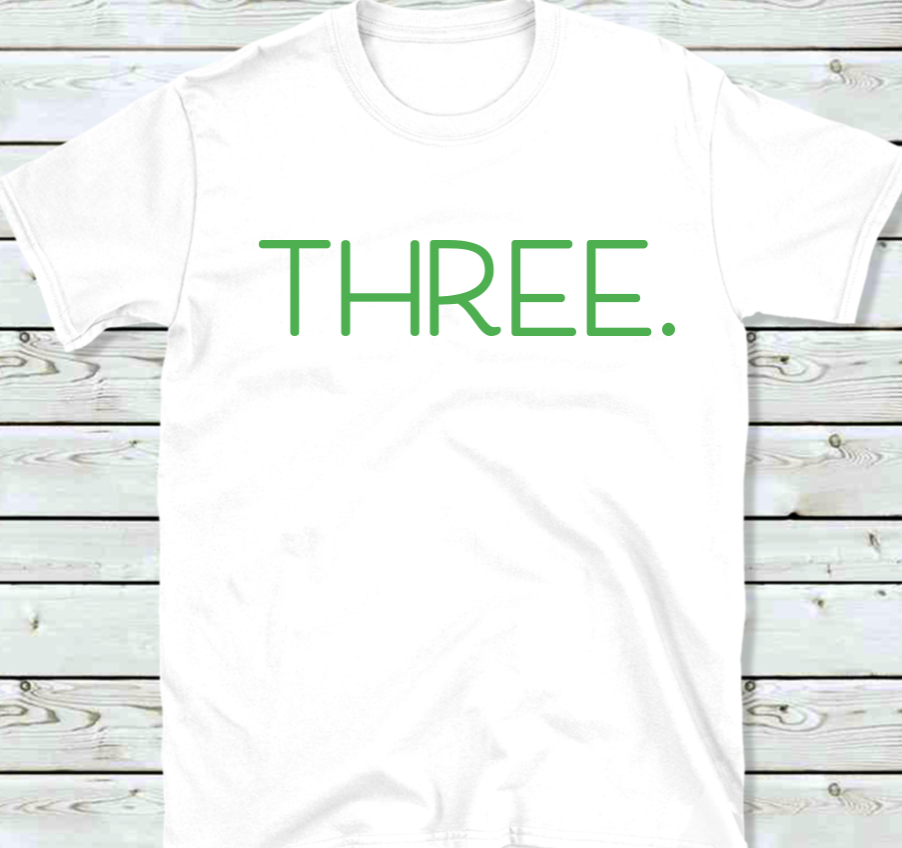 Three Birthday shirt for Kids