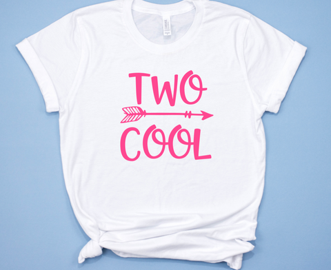 Two Cool Birthday Shirt for Girls