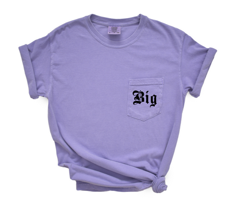 Sorority Big Little Shirt in Comfort Colors