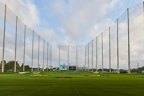 The driving range area of Topgolf