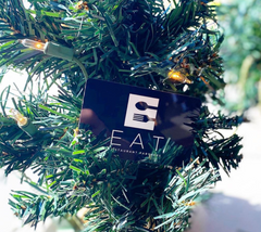 Eat Restaurant Group gift card in a Christmas tree