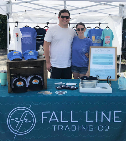 Fall Line Trading Co owners at their tent