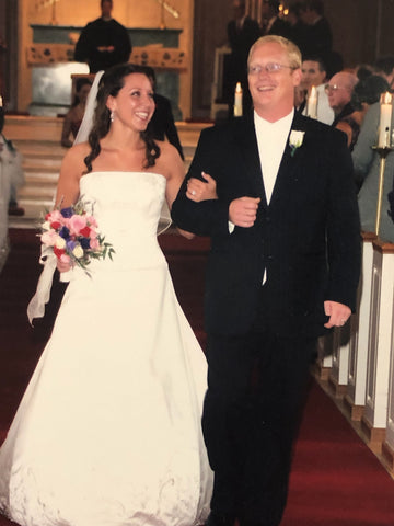 Ross and Sarah Merritt on their wedding day