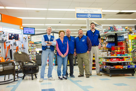 The team inside the new Pleasants Hardware in Mechanicsville