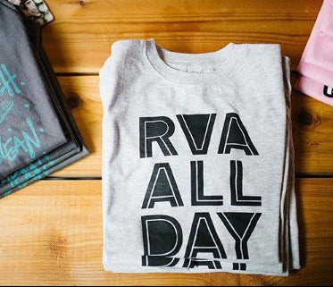 RVA All Day t-shirt stacked